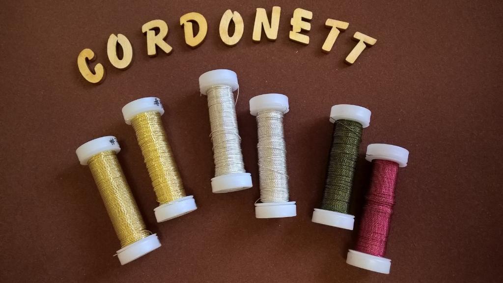 Cordonett, Haarnadeln, gold, silber, Klosterarbeiten, Blüten