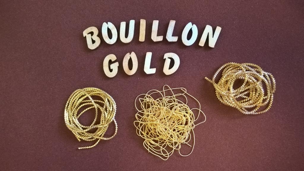 Bouillon, gold, Blüten, wickeln, Haarnadeln, Klosterarbeiten