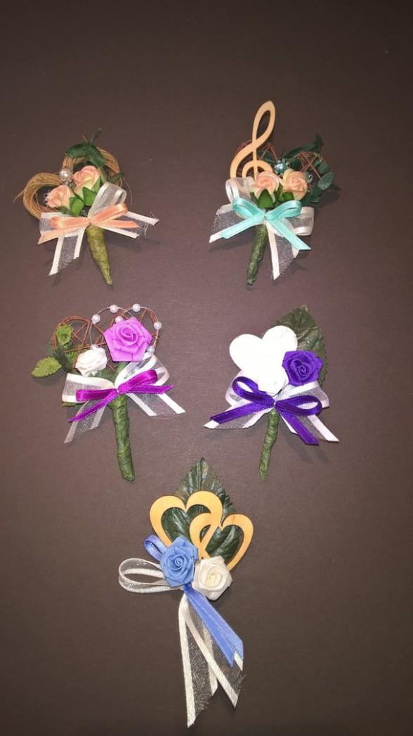 Hochzeitsanstecker, Diorrosen, Satinband, Anstecker, Hochzeit, Büscherl